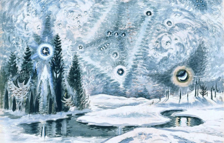 Фото обои 1962, Charles Ephraim Burchfield, Orion in Winter