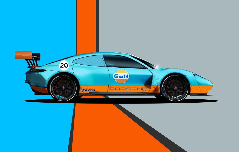 Фото обои Porsche, Art, Mission, Porsche Mission, Transport & Vehicles, by Liam Keating, Liam Keating, Porsche Mission …