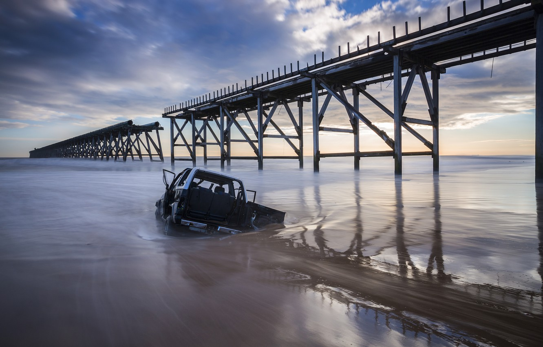 Фото обои car, мост, автомобиль, bridge, Daniel Springgay