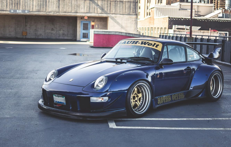 Фото обои Porsche, 993, RWB, Porsche 993 RWB