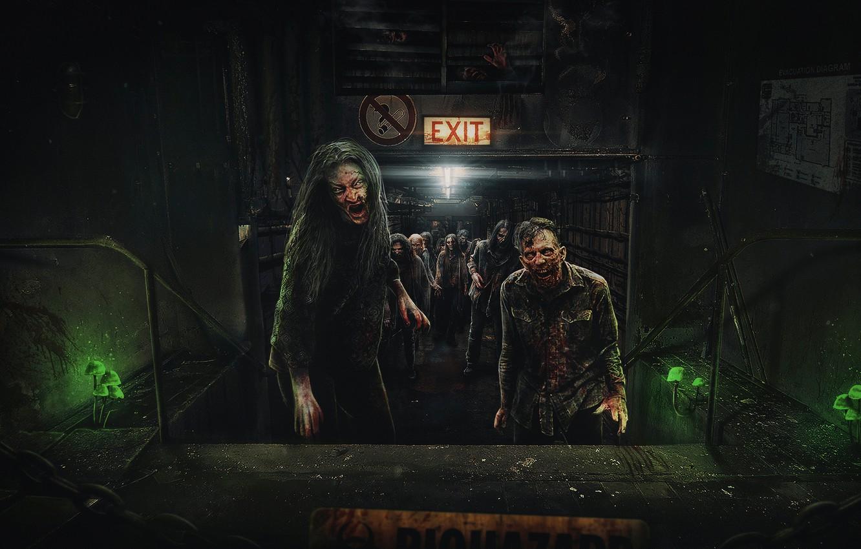 Фото обои зомби, zombie, zombies, biohazard, Resident Evil, обитель зла, ходячие мертвецы, the walking dead, days gone, …