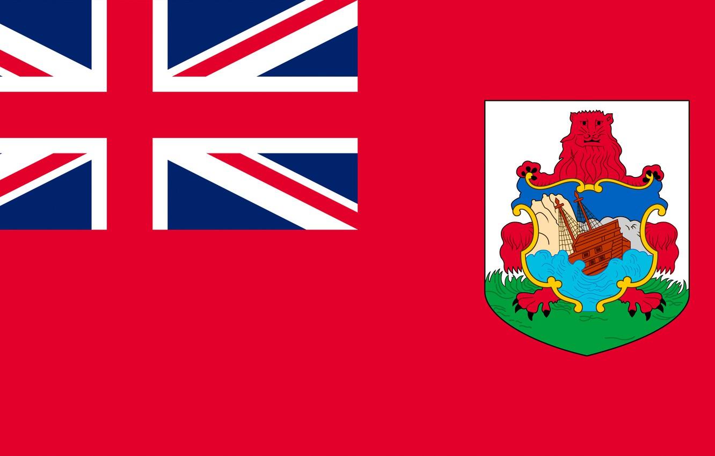 Фото обои флаг, герб, flag, бермуды, bermuda, бермудские острова