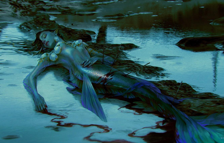 картинки мифических существ сирена рассвете