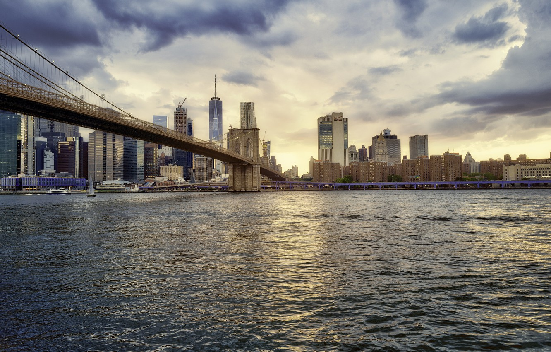 Фото обои Манхеттен, панорама, Нью - Йорк