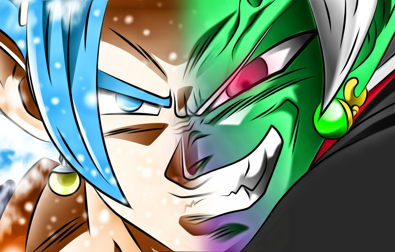 Фото обои goku, vegeta, super saiyan blue, dragon ball super, zamasu