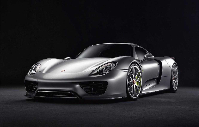 Фото обои Авто, Машина, Серый, Car, Автомобиль, Render, Spyder, 918, Рендеринг, Спорткар, Porsche 918 Spyder, Серый цвет, …
