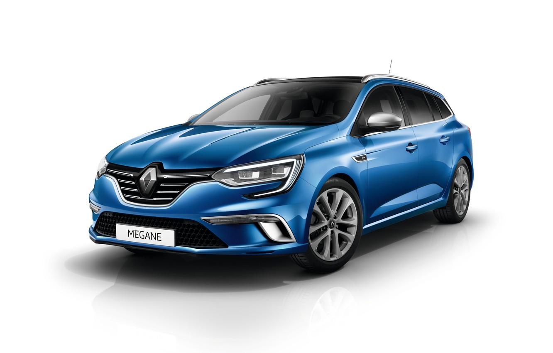 Фото обои белый фон, Renault, Megane, Estate, GT Line, Worldwide