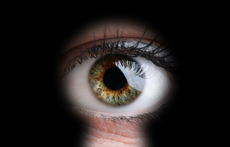 Фото обои green, eye, peeping, keyhole