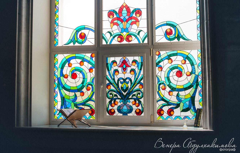 Фото обои узор, окно, мечеть, фреска