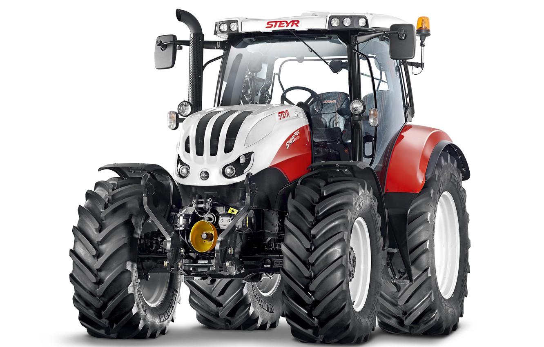 Фото обои трактор, белый фон, Steyr, Profi, 6145