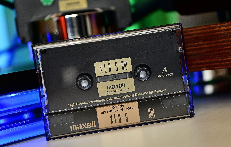Фото обои cassette, MAXELL, type II, Chrome tape, XLII-S