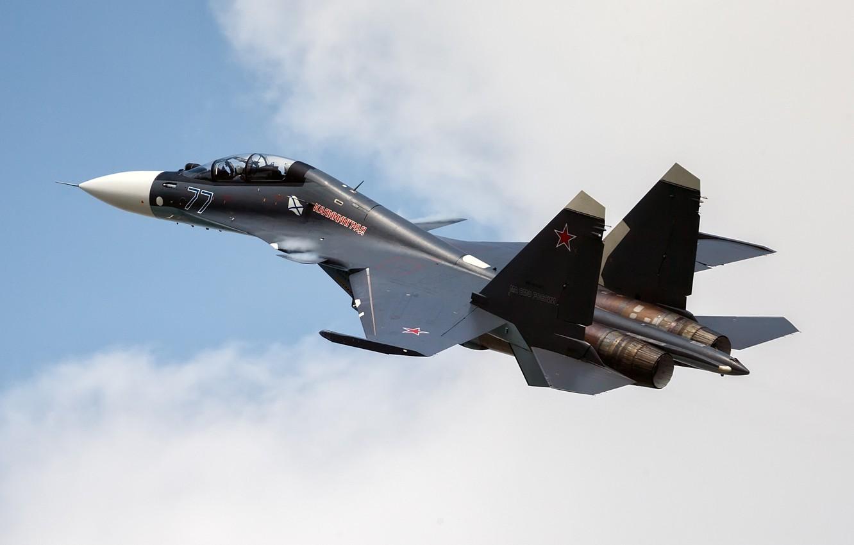 Обои Sukhoi, Su-30sm, истребитель, многоцелевой. Авиация foto 16