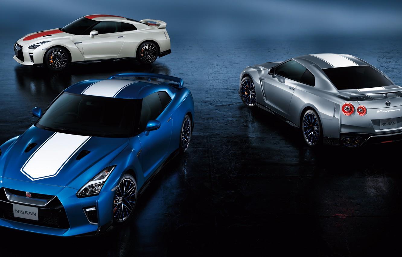 Фото обои Nissan, GT-R, R35, 50th Anniversary, JP-Spec, 2019, Japan version