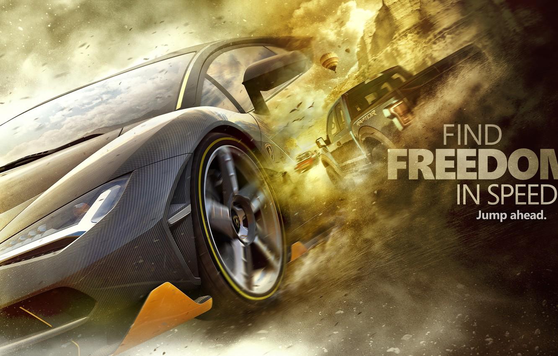 Фото обои art, Forza Horizon 3, Freedom In Speed