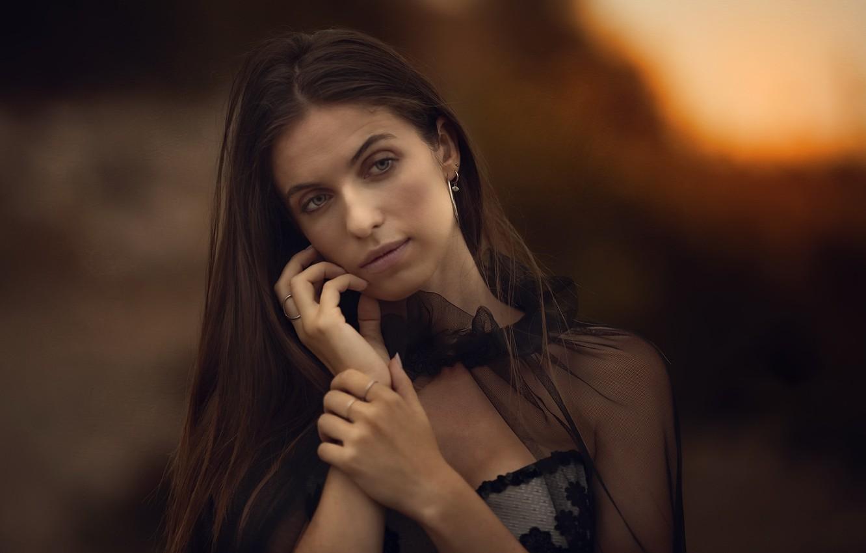 Фото обои девушка, портрет, Marta Belda