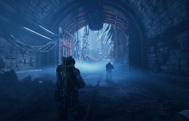 Фото обои снег, брюнетка, gears of war, games, microsoft game studios, гирзы 5, gears 5, кейт диаз, …