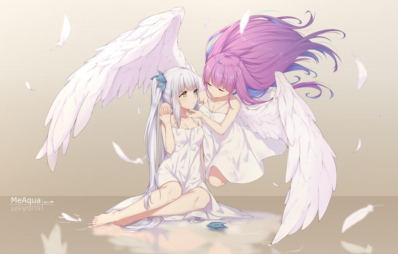 Фото обои девушки, ангелы, Virtual Youtuber, Виртуальный Ютубер