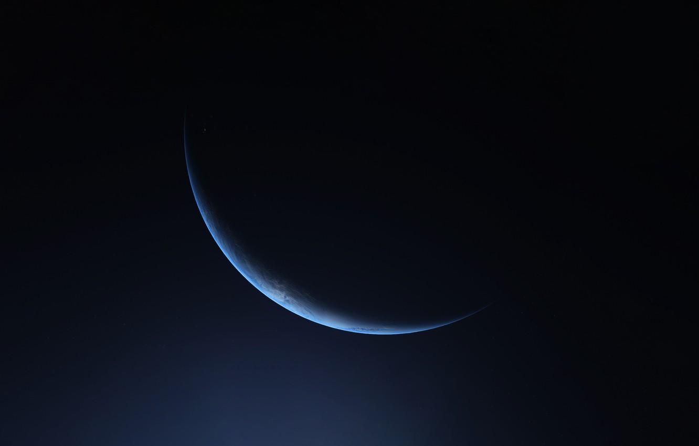 Фото обои Планета, Космос, Свет, Space, Planet, Темная сторона, Austin Roberts, Celestial body, by Austin Roberts