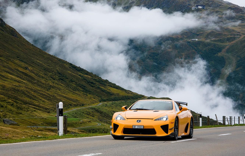 Фото обои Lexus, Yellow, LFA