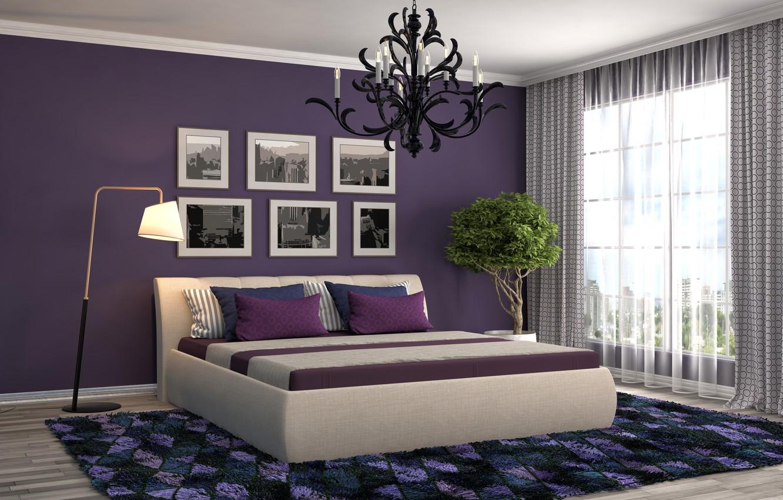 Фото обои art, realism, room, bed, paintings