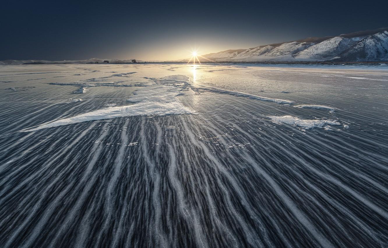 Фото обои зима, море, лёд