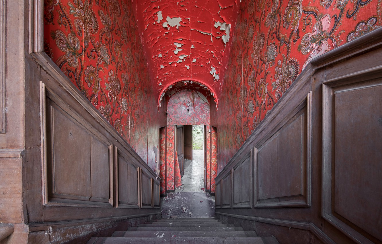 Фото обои дом, интерьер, лестница
