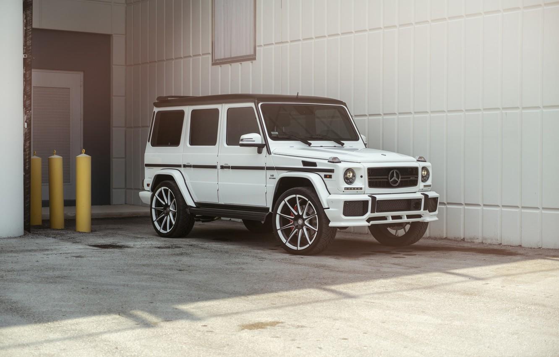 Фото обои Mercedes, AMG, Germany, White, G63, W463