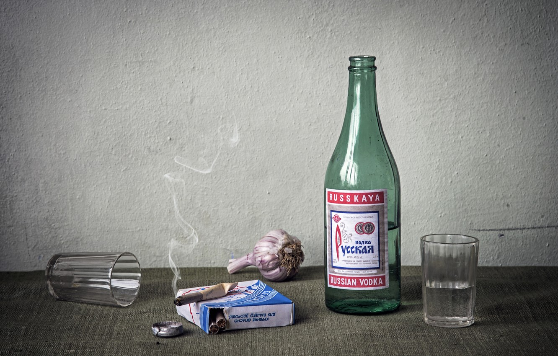 Обои сигарета, бутылка. Разное foto 16