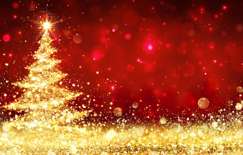 Фото обои огни, елка, Рождество