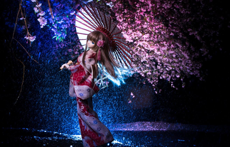 Обои японка, зонтик, Кукла. Разное foto 10