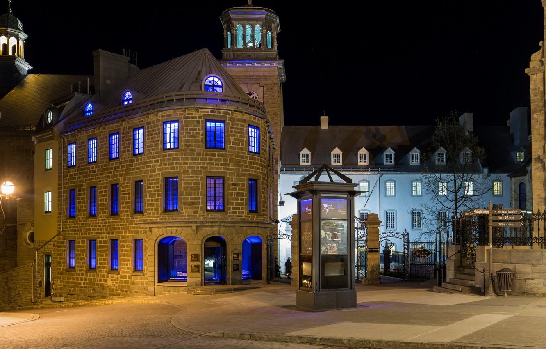 Фото обои вечер, Канада, музей, Квебек, Musée de l'Amérique francophone