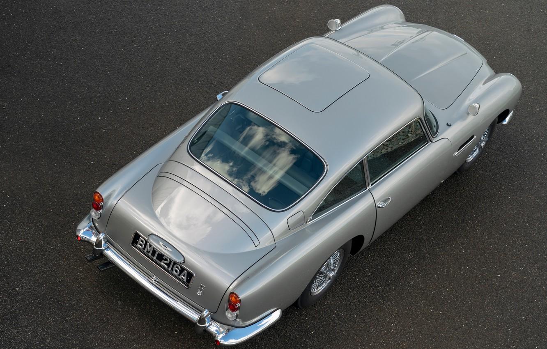 Фото обои Aston Martin, сверху, DB5, 2020, Goldfinger Continuation
