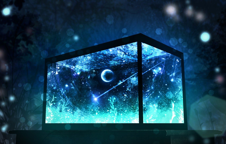 Фото обои космос, аквариум, фэнтези