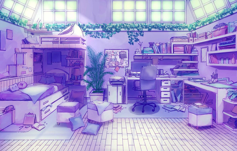 Картинки аниме фона комната