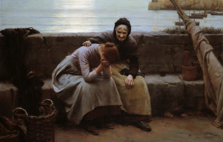 Фото обои to Evening but Some Heart Did Break, Never Morning Wore, Уолтер Ленгли