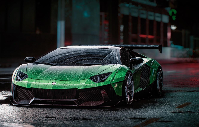 Фото обои Lamborghini, NFS, Aventador, Electronic Arts, Need For Speed, Liberty Walk, Need For Speed 2015, game …