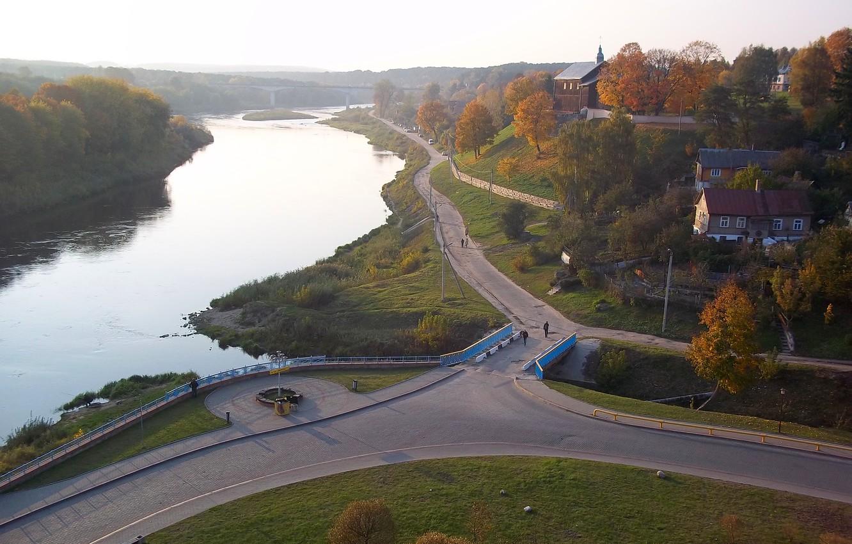Фото обои осень, Беларусь, гродно, неман