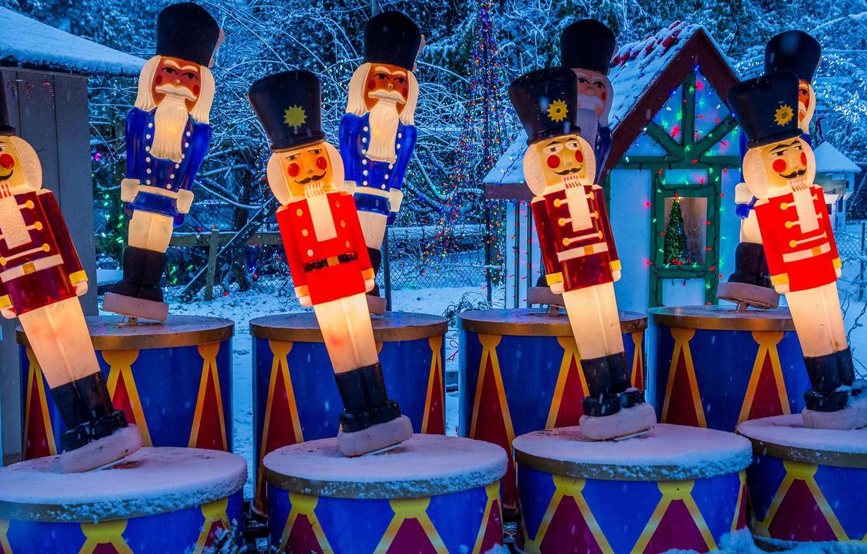 Фото обои Канада, Рождество, Ванкувер, Стэнли-парк