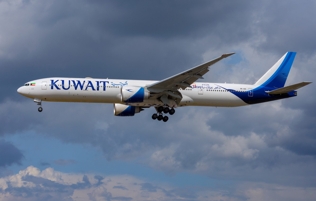 Фото обои Boeing, 777-300ER, Kuwait Airways