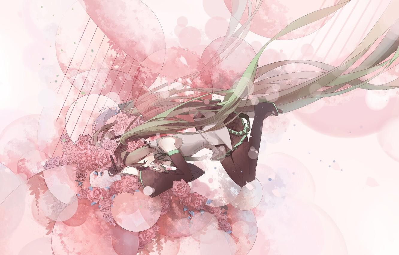 Фото обои Hatsune Miku, Vocaloid, Вокалоид, Хатсуне Мику
