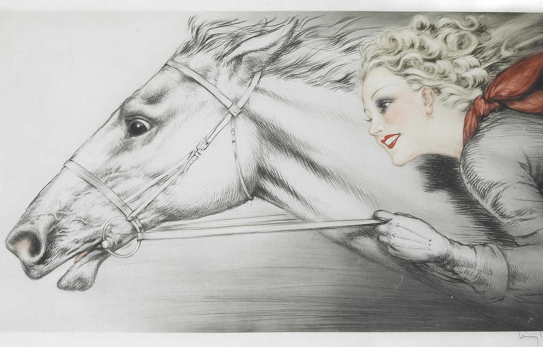 Фото обои 1938, Louis Icart, Чистокровные
