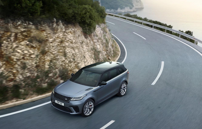 Фото обои поворот, Машина, Land Rover, Range Rover, кроссовер, SVAutobiography, Velar, Dynamic Edition