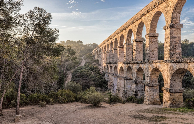 Фото обои Испания, Каталония, акведук, Таррагона, Мост Дьявола