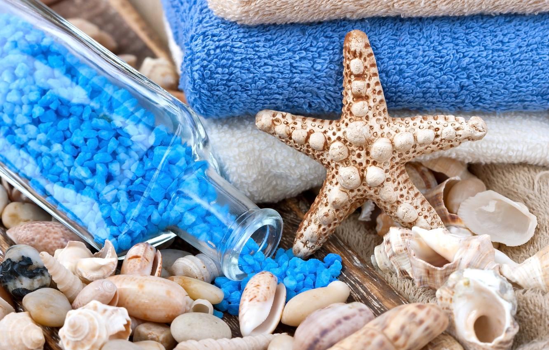 Обои Seashells, Spa, salt, still life, ракушки, соль, wellness. Разное foto 11