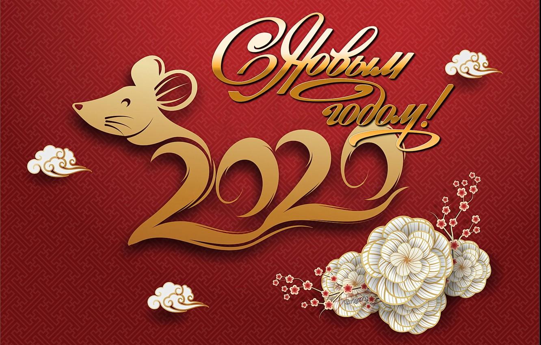Фото обои праздник, новый год, 2020