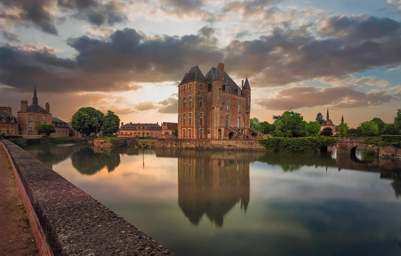 Фото обои Chateau, Bellegarde, Loiret