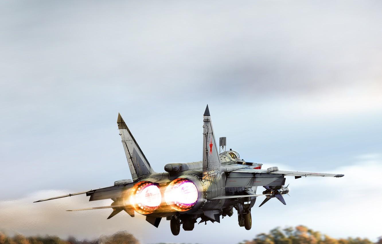 Обои ввс, миг-31, перехватчик, россии, истребитель, Самолёт. Авиация foto 7