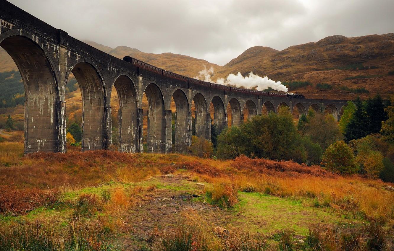 Обои scotland, поезд, forth bridge, вагоны. Разное foto 9