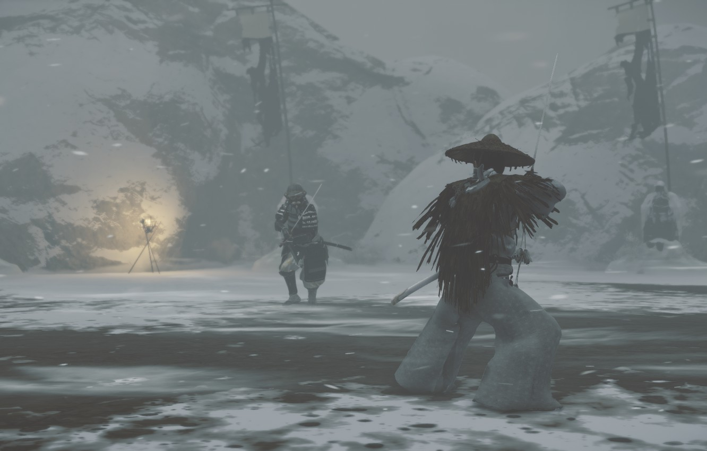 Фото обои Samurai, ghost of tsushima, tsushima, Cамурай
