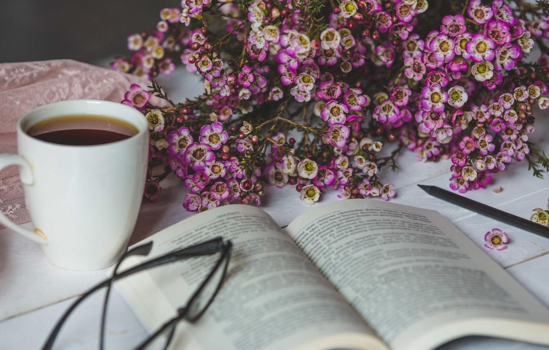 Обои напиток, книга, чтение, чай, окно. Разное foto 10